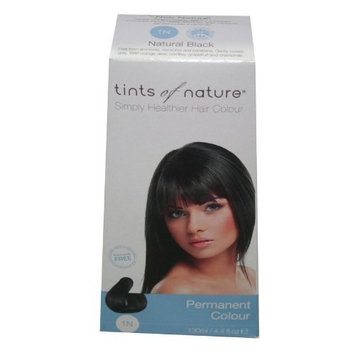Tints of Nature Organic 1N Natural Black Permanent Hair Hair Colour 130ml by Tints Of Nature