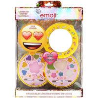 Townley Girl Emoji Sparkly Lip Gloss for Girls, 16 Assorted Colors and Flavors with Compact