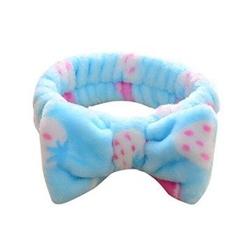 Soft Hairband,FTXJ Big Bow Dot Striped Soft Hair Band Head Wrap Headband Bath Spa Headband Make