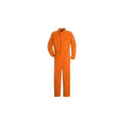 Bulwark Deluxe Coverall, Excel FR ComforTouch, 9 oz., ORANGE, LN46 CLBCORLN46