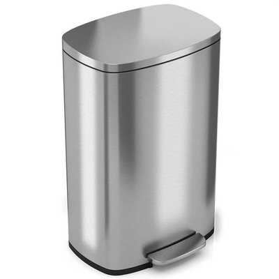 iTouchless SoftStep 13.2 Gal. Stainless Steel Step Kitchen Trash Can