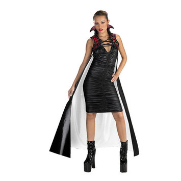 Adult Cape, 60'' Gothic, Red & Black