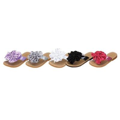 Toddler Little Girls Floral Pom Pom Flip Flop Sandal Size 7-4