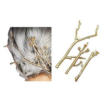 Set of 3 Girls Vintage Tree Branch Hair Clip Barrette Women Lady Hair Pin Head Dress DIY Hair Accessories (G