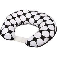 Bacati Dots/Pin Stripes Nursing Pillow, Black/White