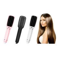 Z-Comfort Premium 2-in-1 Magic Straightening Hair Brush Black
