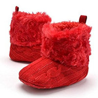 Highdas Baby Shoes Infants Crochet Knit Fleece Boots Toddler Girl Boy Wool Snow Crib Shoes Winter Booties