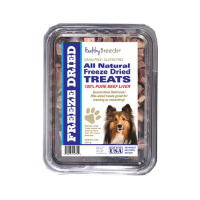 Healthy Breeds 840235147473 10 oz Shetland Sheepdog All Natural Freeze Dried Treats Beef Liver