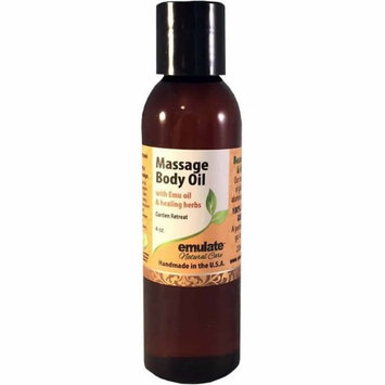 Emu Oil Massage Body Oil Garden Retreat emulate Natural Care 4 oz Oil