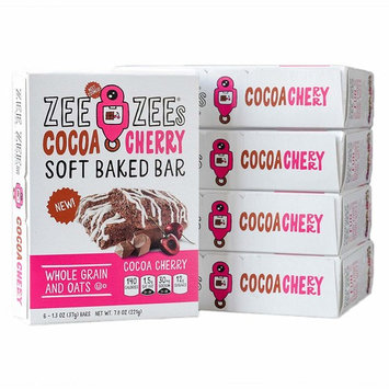 Zee Zees Whole Grain Soft Baked Snack Bars, Cocoa Cherry, 1.3 oz Bars, 30 pack [Cocoa Cherry]