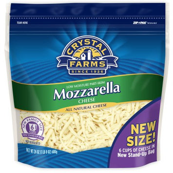 Crystal Farms Mozzarella Shredded Cheese, 24oz