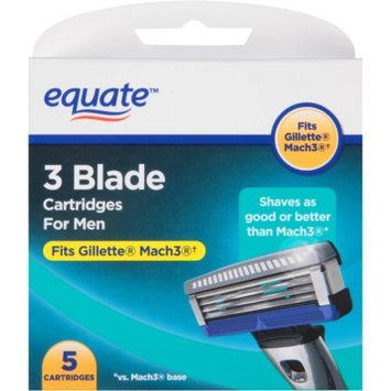 Equate Men's 3-Blade Razor Replacement Cartridges, 5 Ct