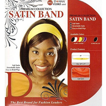 PACK OF 12) DONNA PREMIUM COLLECTION SATIN BAND #11003 ASSORT