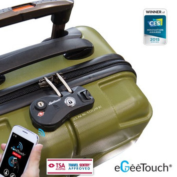 Digipas Technologies Inc eGeeTouch NFC Smart Luggage Zipper Lock, Instantly Transform to Smart Luggage (BLACK)