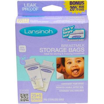 Lansinoh Laboratorie Lansinoh Breastmilk Storage Bags 25ct Bonus Pack - 25ct + 5ct