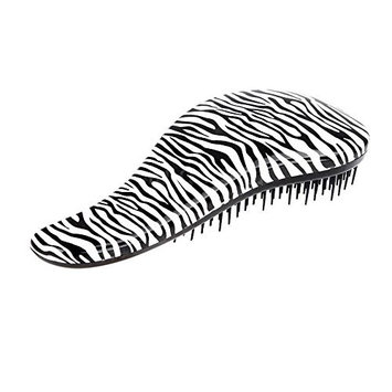 PU Beauty Pure Acoustics Beautician Approved Wet or Dry Hair Detangle Brush, Zebra, 0.5625 Pound