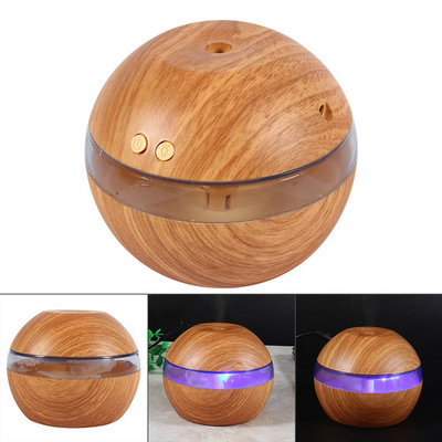 200ml Aroma Essential Oil Diffuser, Wood Grain Ultrasonic Cool Mist Humidifier for Office Home Bedroom Living Room Study Yoga Spa