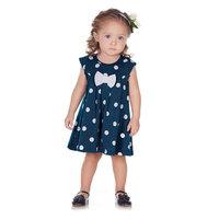 Pulla Bulla Baby Girl Infant Bow Polka Dot Dress
