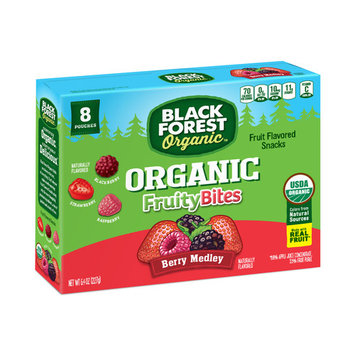Black Forest Organic Fruity Bites Fruit Snacks, Berry Medley, 0.8 Ounce Bag, Pack of 8