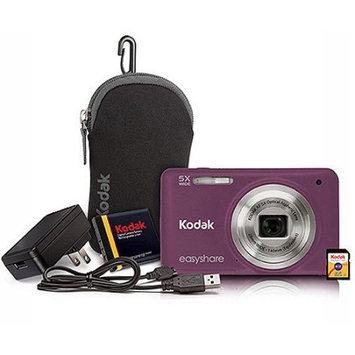 Kodak M5350PR Easyshare 16MP Digital Camera Bundle Purple