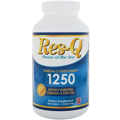 Res-Q, 1250, Omega-3 Fish Oil, 200 Softgels
