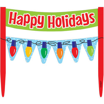 Happy Holidays Cake Bunting Topper