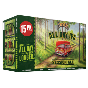 Founders All Day Ipa Founders Brewing Co. All Day IPA, Beer, 12oz. 15-pack cans