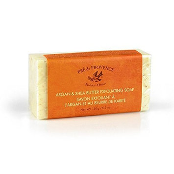 Pre de Provence Moroccan Argan Oil & Shea Butter Quad Milled Exfoliating Soap Bar (150 g) - Citrus