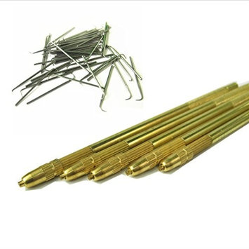 GEX Bronze Lace Wig Ventilating Holder+8PCS Needle Kit (2pcs of Each Size 1-1, 1-2, 2-3 and 3-4)