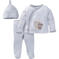 born Baby Unisex Take-Me-Home Outfit Set, 3-Piece