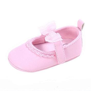 Jamicy Toddler Baby Cute Bowknot Design Soft Sole Anti-slip Baby Girls Crib