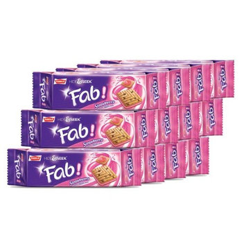 Parle, Fab! Cookies, Strawberry Pack, 3.94 oz. Each (Pack of 12)