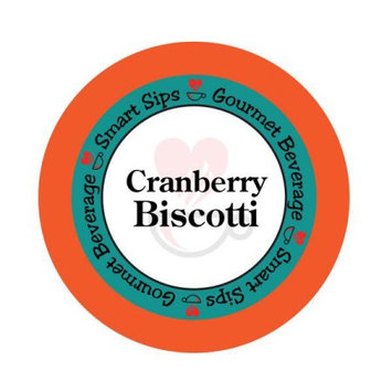 Smart Sips COFCRABISC24 Cranberry Biscotti Gourmet Coffee-Single Serve Cups for All Keurig K-cup Brewers 24 Count