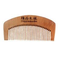 Dingji Natural Health Peach Wooden Mahogany Comb Present Hair Comb