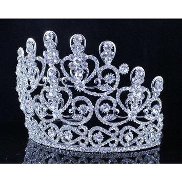 Janefashions Sensational Clear Crystal Rhinestone Tiara Crown Bridal Prom Pageant T11883
