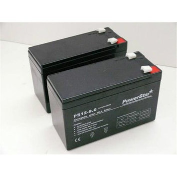 PowerStar PS12-9-POWERSTAR-2PACK106 12V 9Ah PS-1290 Battery for 6-DW-9 CP1290 HR9-12