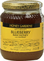 Honey Gardens Raw Honey Blueberry with Cranberry 1 lb