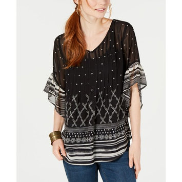 Petite Pintucked Swing Top, Created for Macy's