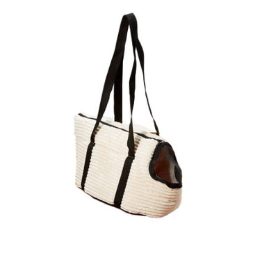 Iconic Pet 92129 Luxury Totez Pet Carry Bag Cream Large