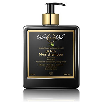 Vine de la Vie oR Noir Shampoo, Organic-Based - Wine Extract Antioxidants, Use on Wet or Dry Hair - 16.9 fl. oz.