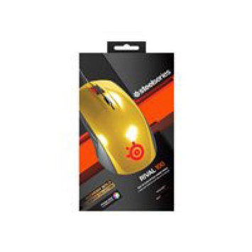 SteelSeries Rival 100 Mouse - Optical - Cable - Alchemy Gold - 4000 dpi - Scroll Wheel - 6 Button(s) - Right-handed Only