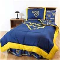 Comfy Feet WVABBTWW West Virginia Bed in a Bag Twin - With White Sheets