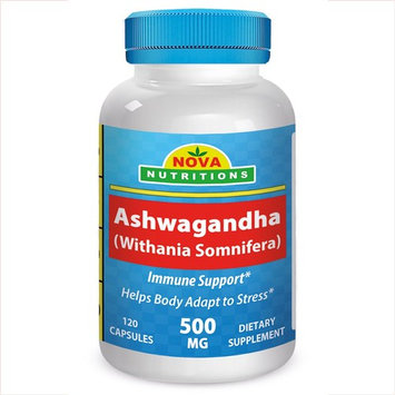 Ashwagandha 500 mg 120 Capsules by Nova Nutritions