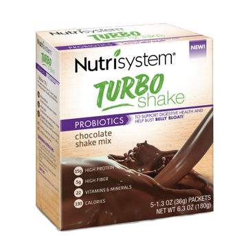 Nutrisystem Turbo Shake, Chocolate Shake Mix, 5CT