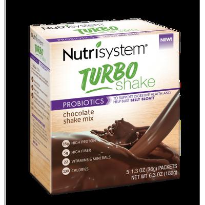 Nutrisystem Turbo Shake, Chocolate Shake Mix, 5CT