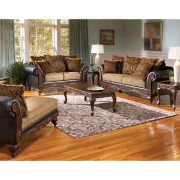 Benzara Voguish Sofa With 6 Pillows, Chocolate Brown