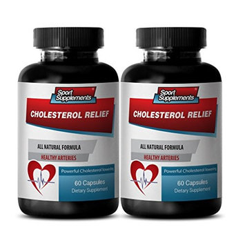 Cholesterol reduction - CHOLESTEROL RELIEF - Blood sugar support - 2 Bottles 120 Capsules