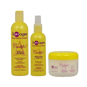 ApHogee Curlific Textured Hair Wash 12oz + Moisture Rich Leave-In + Texture Treatment 8oz