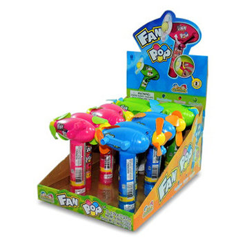 KIDSMANIA FAN POP WITH CANDY 0.39 oz Each (12 in a Pack) NO BATTERY NEEDED
