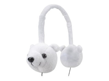 Accessory Power GOgroove Groove Pal KDZ Polar Bear Over-Ear Headphones w/ Volume Control